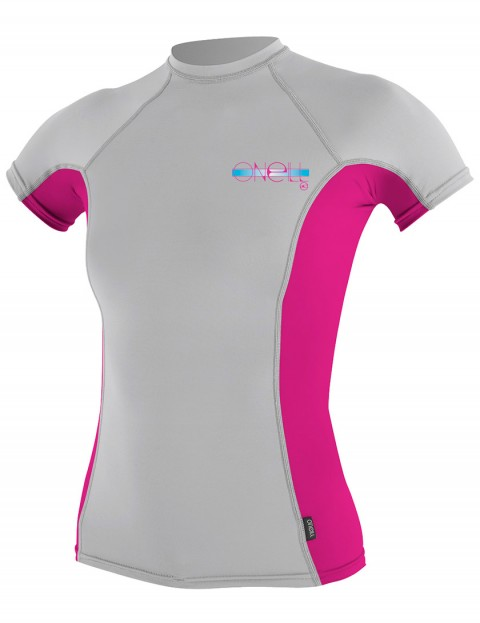 Oneill Wetsuits Ladies Skins Short Sleeve Crew Rash vest - Lunar/Berry/Lunar