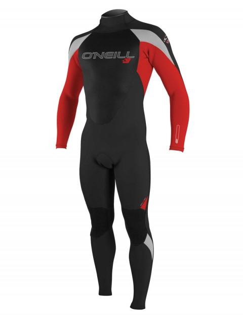 O'Neill Boys Epic 3/2mm Wetsuit 2016 - Black/Red/Lunar