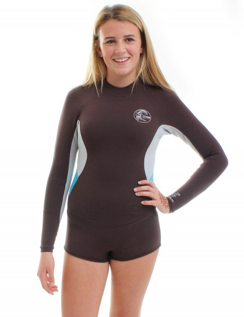 Oneill Wetsuits Ladies Bahia LS Short Spring 2mm Summer 2015 - Myers/Lunar/Sky