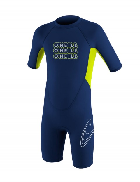 O'Neill Toddler Reactor Shorty 2mm wetsuit 2016 - Navy/Lime