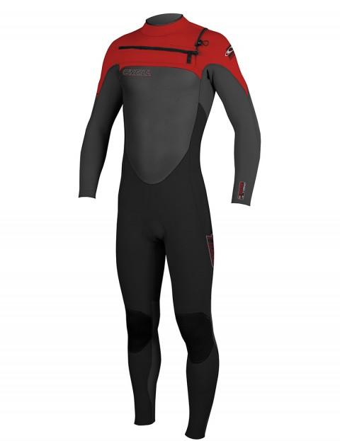 ONeill SuperFreak Front Zip 5/4mm Wetsuit 2016 - Black/Graph/Red