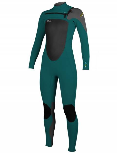 O'Neill Ladies SuperFreak Chest Zip 3/2mm Wetsuit 2016 - Deep Teal/Graphite/Lime