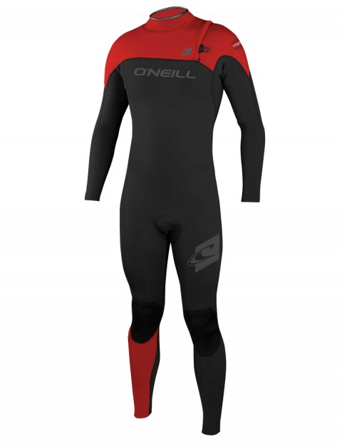 O'Neill Hyperfreak Comp Zipless 3/2mm Wetsuit 2017 - Black/Red/Red