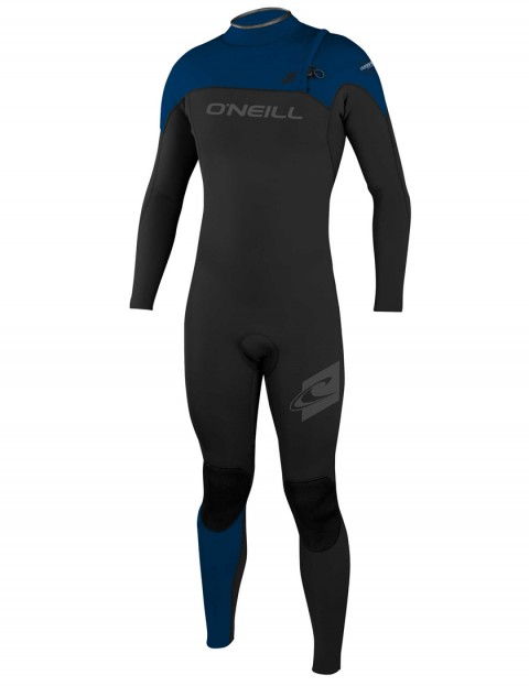 O'Neill Hyperfreak Comp Zipless 4/3mm Wetsuit 2017 - Black/Deep Sea/Deep Sea