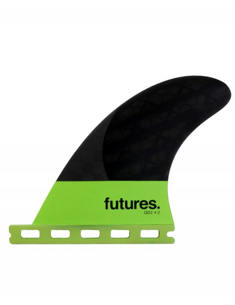 Futures QD2 4.0 Blackstix Quad Rear Fins Medium - Light Green/Carbon