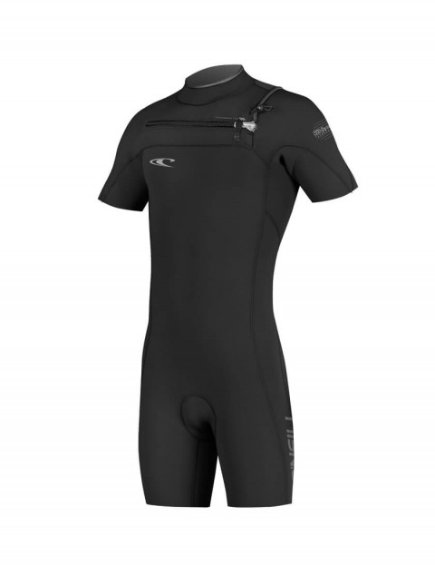 O'Neill Hyperfreak Chest Zip Shorty 2mm Wetsuit 2016 - Black/Black/Deep Sea