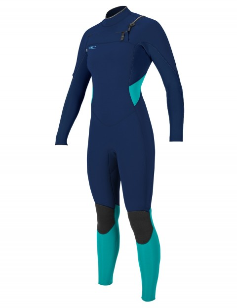 O'Neill Ladies SuperTech Chest Zip 5/4mm wetsuit 2018 - Navy/Navy/Seaglass
