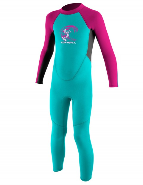 O'Neill Toddler Reactor 2mm Wetsuit 2017 - Lite Aqua/Graphite/Berry