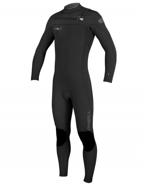 O'Neill Hyperfreak Chest Zip 5/4mm Wetsuit 2017 - Black/Black/Graphite