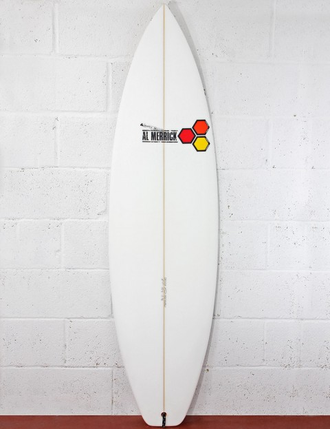 Channel Islands Fred Rubble (Squash) Surfboard 6ft FCS - White