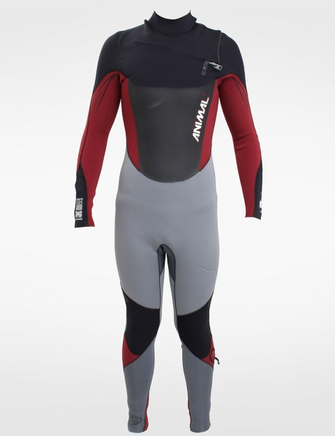 Animal Wetsuits Amp V2 OFZ 3/2mm Summer 2013 - Black/Red/Ash/Grey