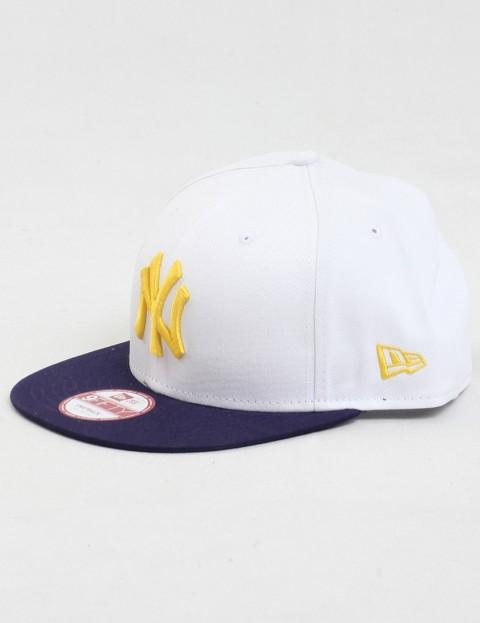 New Era Cotton Block 6 New York Yankees 9FIFTY Strapback cap -White/Light Navy