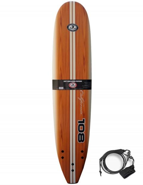 California Board Company Classic 108 Soft Surfboard 9ft - Brown Grain