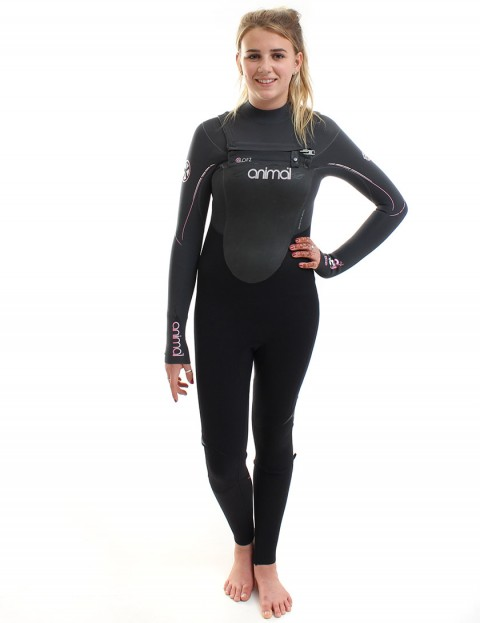 Animal Wetsuits Ladies Amp V2 OFZ 3/2mm Summer 2014 - Black/Graphite/Pink