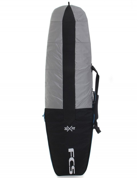 FCS 3DxFit Dayrunner Performance Hull 5mm Surfboard bag 5ft 8 - Black/Silver