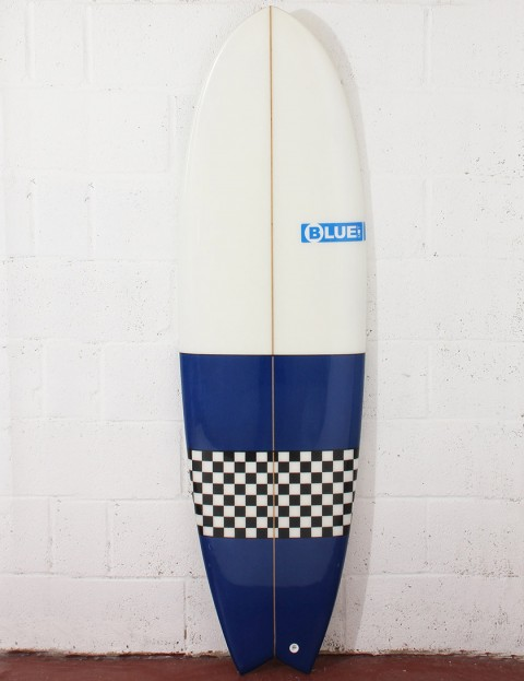 Blue Dot Fish Surfboard 6ft 0 - Blue/Checkerboard