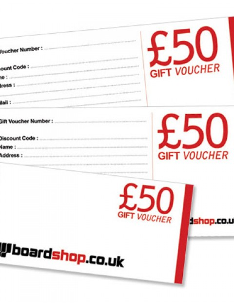 Boardshop BS Gift 50 Fifty pound gift voucher