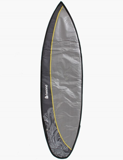 Beyond Duo Multi 10mm Double Surfboard bag 6ft 7 - Silver/Grey