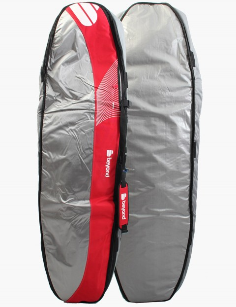 Beyond 4-Trekker 12mm Coffin Surfboard bag 6ft 2 - Grey/Red