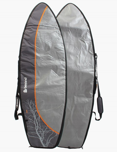 Beyond Hybrid Day Tripper 8mm Surfboard bag 6ft 7 - Grey/Orange