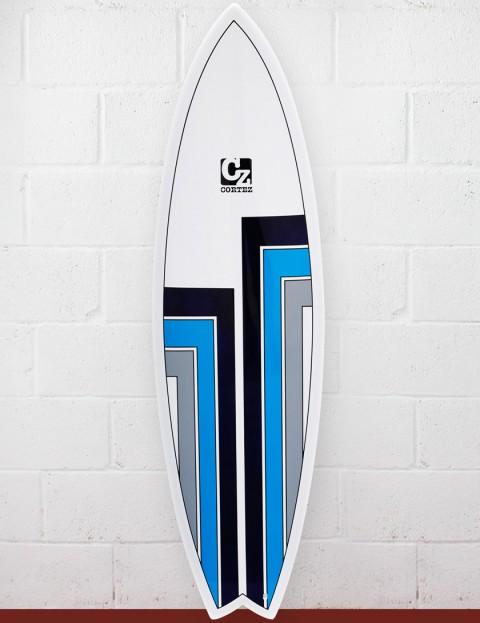 Cortez Surfboards Fish Surfboard 6ft 6 - Black/Grey/Blue