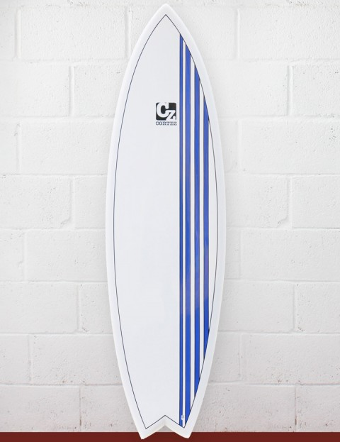 Cortez Surfboards Fish Surfboard 6ft 9 - Blue Stripes