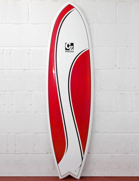Cortez Surfboards Fish Surfboard 6ft 3 - Red Swish