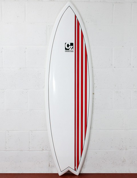Cortez Surfboards Fish Surfboard 6ft - Red Stripes