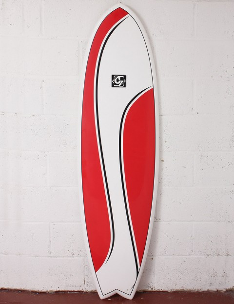 Cortez Surfboards Fish Surfboard 6ft - Red Swish