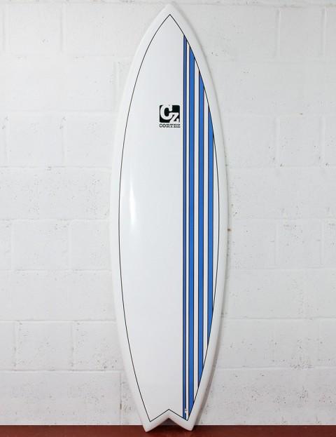 Cortez Surfboards Fish Surfboard 6ft 6 - Blue Stripes