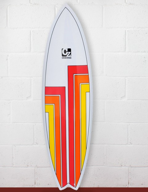 Cortez Surfboards Fish Surfboard 6ft 9 - Red/Orange/Yellow