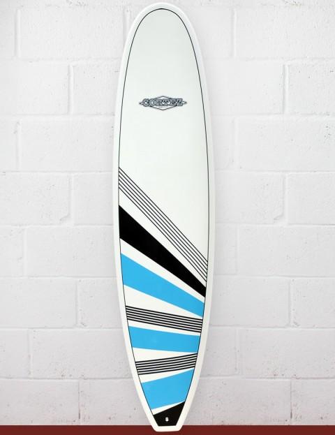 Cortez Surfboards Funboard Surfboard 7ft 2 - Blue/Black