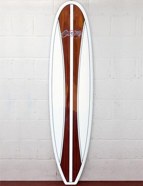 Cortez Fun Veneer Surfboard 7ft 4 - Dark Natural