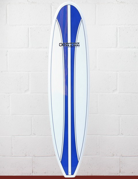 Cortez Surfboards Funboard Surfboard 7ft 6 - Dark Blue Stripe