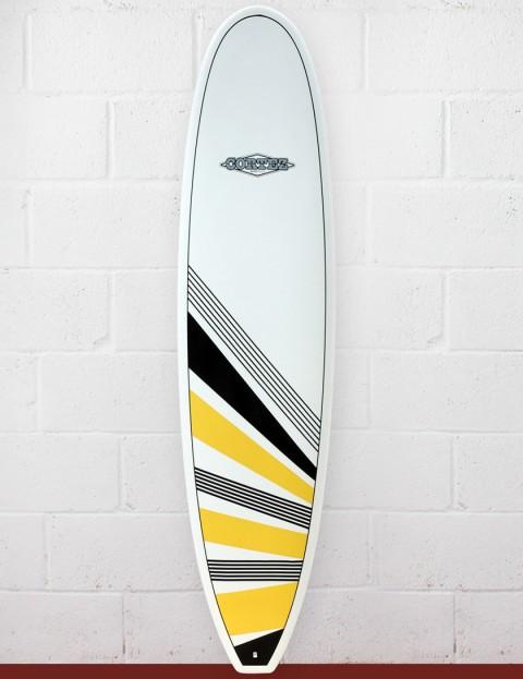 Cortez Surfboards Funboard Surfboard 7ft 6 - Yellow/Black
