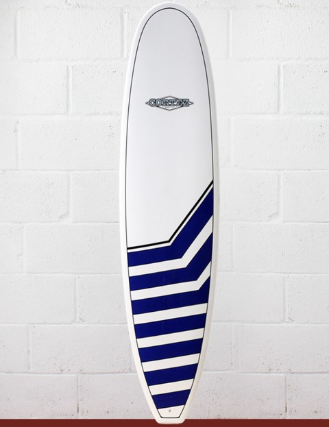 Cortez Surfboards Funboard Surfboard 7ft 6 - Navy Chevrons