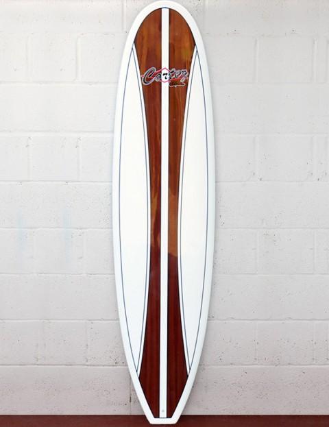 Cortez Fun Veneer Surfboard 7ft 6 - Dark Natural