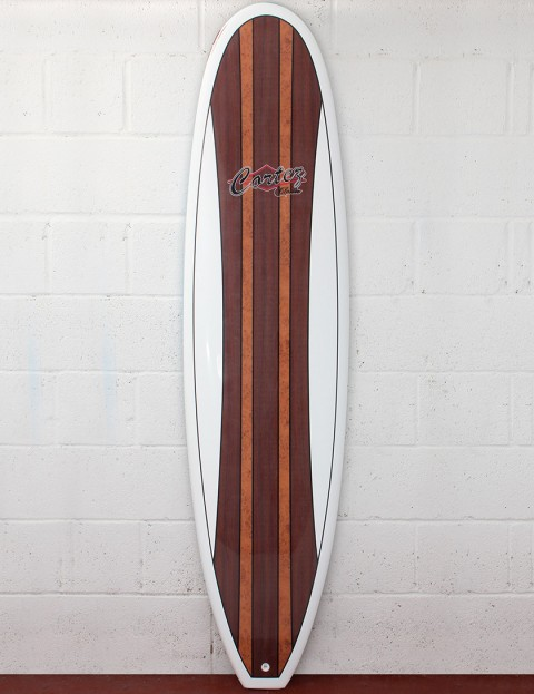 Cortez Fun Veneer Surfboard 7ft 6 - Dark Natural Wood