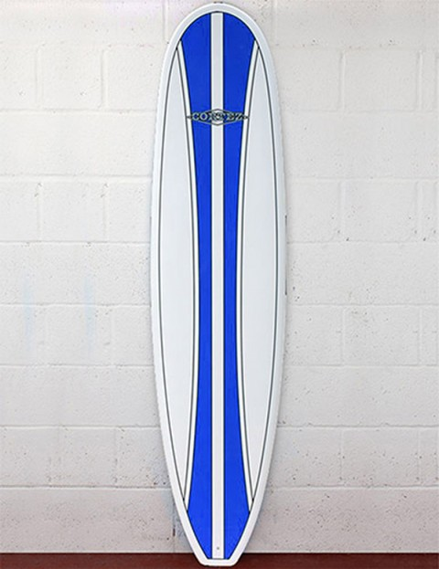 Cortez Surfboards Funboard Surfboard 8ft - Dark Blue Stripe