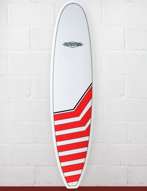 Cortez Surfboards Funboard Surfboard 8ft - Red Chevrons