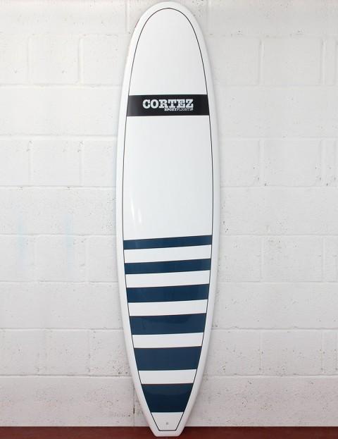 Cortez Surfboards Funboard Surfboard 7ft 6 - Navy Stripe