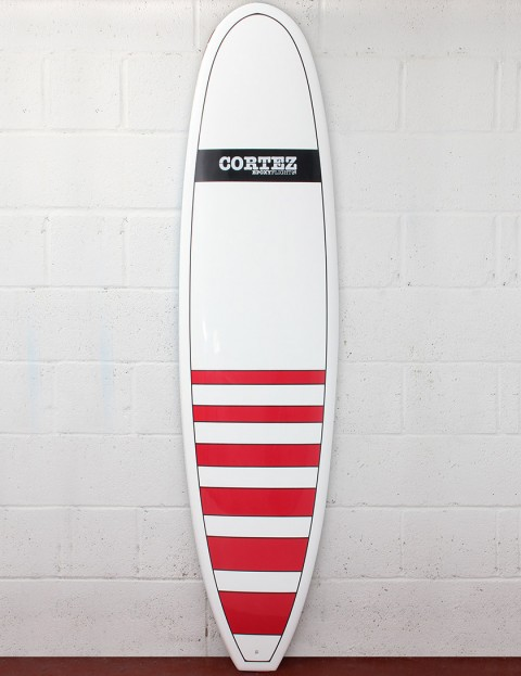 Cortez Surfboards Funboard Surfboard 7ft 6 - Dark Red Stripe