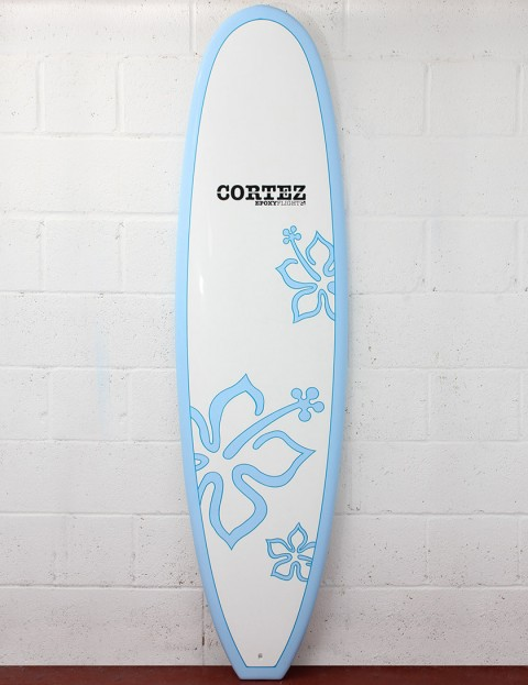 Cortez Surfboards Grom Girls 6ft 6 Kids surfboard - Blue Flower