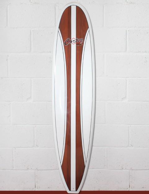 Cortez Fun Veneer Surfboard 8ft - Dark Natural Wood