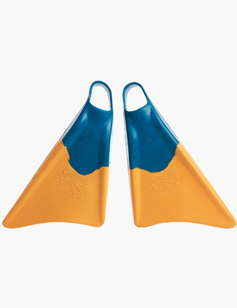 Churchill Makapuu Bodyboarding fins - Blue/Yellow