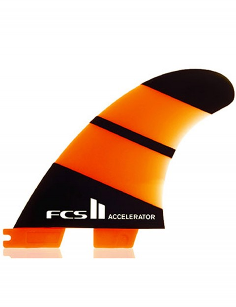 FCS II Accelerator Thruster Neo Glass Tri Fin Set Medium - Orange/Black