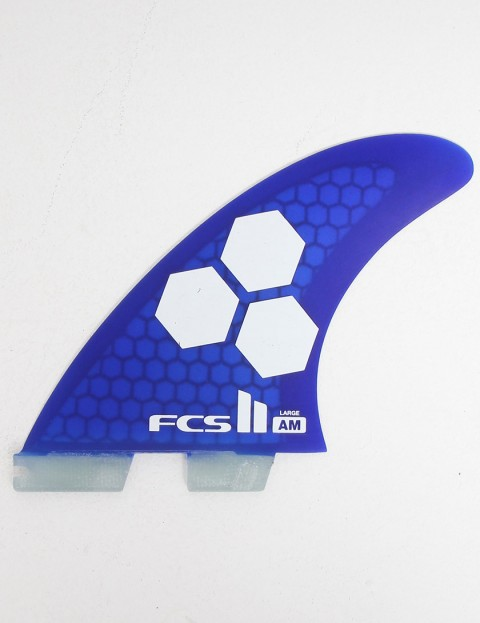 FCS II AM PC Large Tri-Quad Five Fin set - Blue