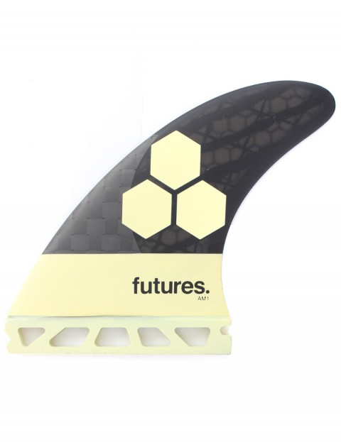 Futures AM1 Blackstix Tri fins Medium - Cream/Carbon