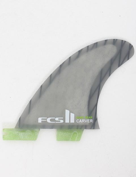 FCS II Carver Quad Rear Fins Medium - Grey