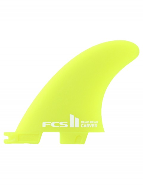FCS II Carver Quad Rear Neo Glass Medium Two fin set - Neon Green